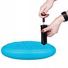 Балансировочная подушка сенсомоторная массажная Springos PRO FA0088 Sky Blue, фото 4