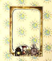 Магнитная рамка на холодильник Часы