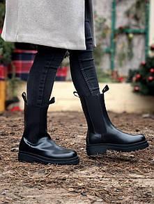 Жіночі черевики 𝐁𝐨𝐭𝐭𝐞𝐠𝐚 𝐕𝐞𝐧𝐞𝐭𝐚 black high