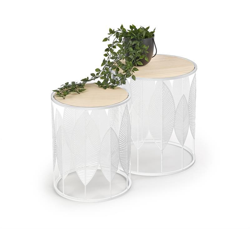 Журнальний стіл (комплект) FOLLA білий(40х45, 33х40) Halmar