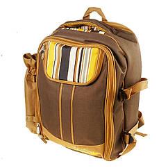 Рюкзак з набором для пікніка на 4 персони - посуд, столові прилади, плед