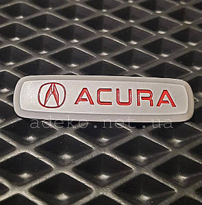 Металлический шильдик с логотипом Acura для автоковриков ЕВА