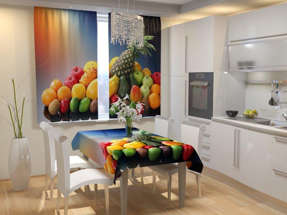 Фотошторы для кухні фрукти