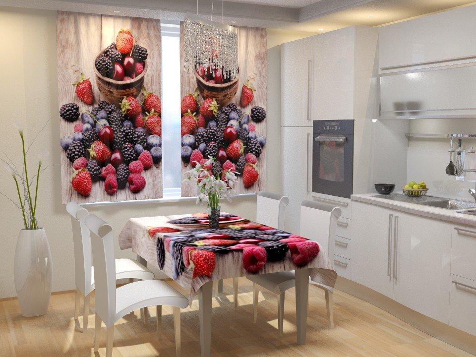 Фотошторы для кухні ягоди