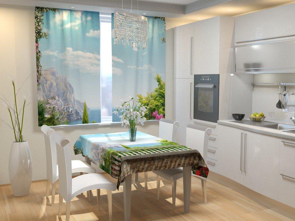 Фотошторы для кухні пейзаж