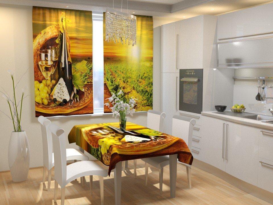 Фотошторы для кухні винна плантація