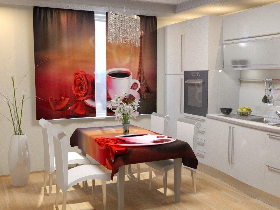 Фотошторы для кухни аромат Франции