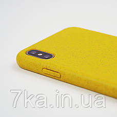 Биоразлагаемый чехол ECO Wheat Straw для iPhone Xs Max Yellow, фото 3