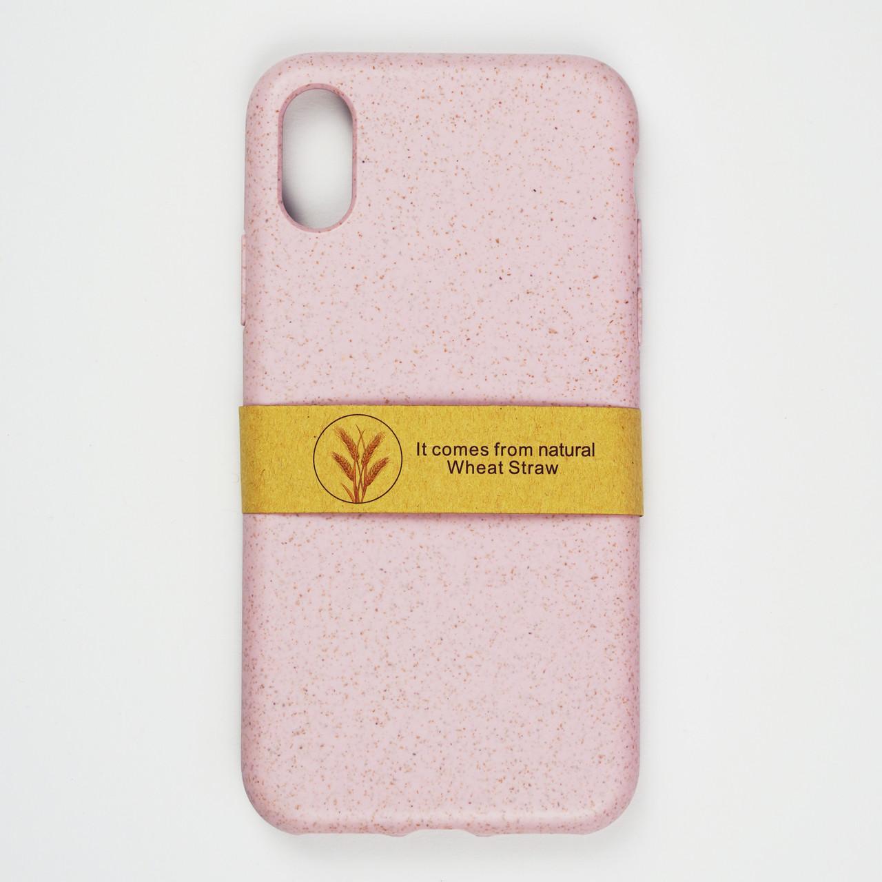 Биоразлагаемый чехол ECO Wheat Straw для iPhone Xs Max Pink