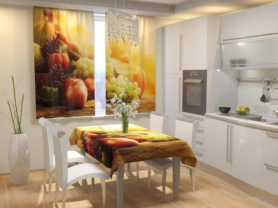 Фотошторы для кухні город