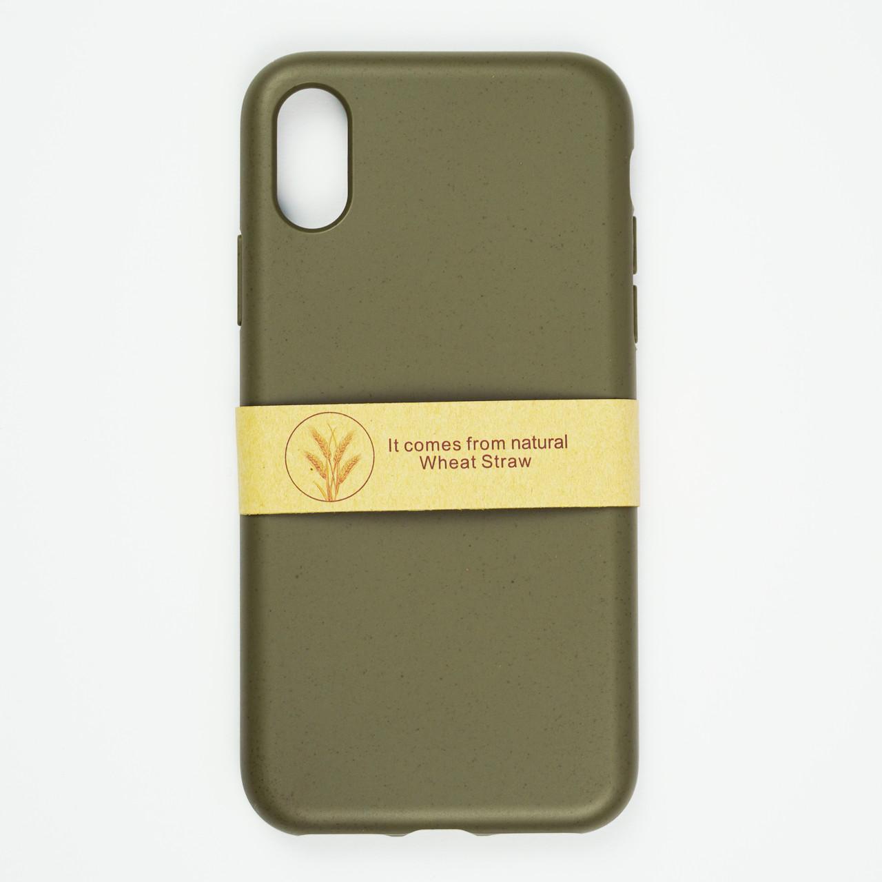 Биоразлагаемый чехол ECO Wheat Straw для iPhone Xs Max Green