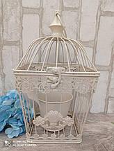 Клетка декоративная с кашпо, металл h-31 cm 18*18 cm, 350 грн