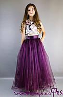 Детское пышное нарядное платье юбка и топ (код 4/110)