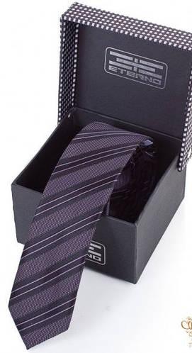 Удобный шелковый галстук  ETERNO (ЭТЕРНО) EG659 фиолетовый