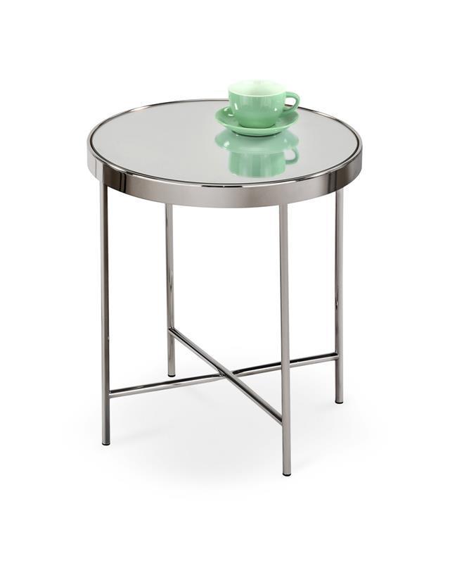 Журнальний стіл MIRA хром (42x46) Halmar