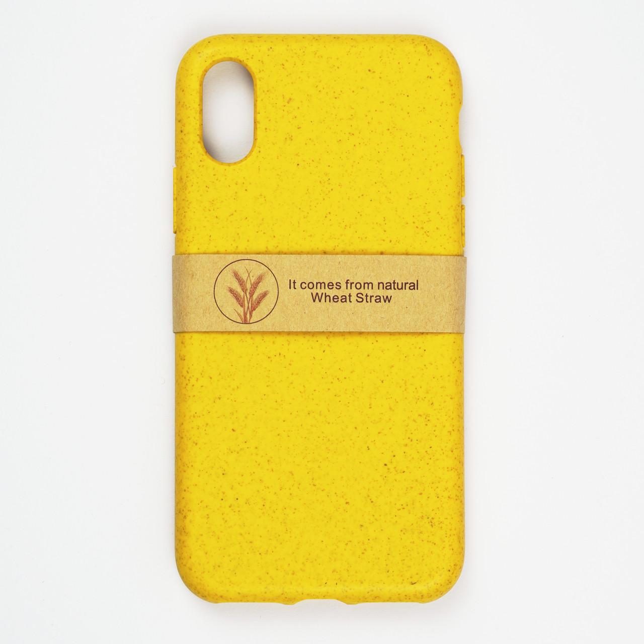 Биоразлагаемый чехол ECO Wheat Straw для iPhone XR Yellow