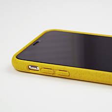 Биоразлагаемый чехол ECO Wheat Straw для iPhone XR Yellow, фото 2