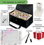 Набір якісних маркерів для художників 262 кольору Touch Smooth для малювання, скетчинга на спиртовій основі, фото 3