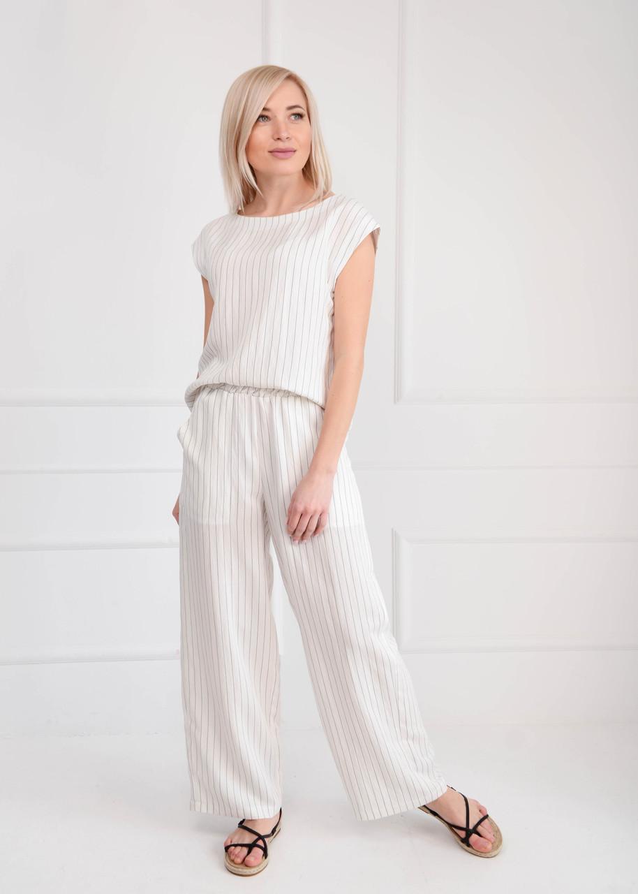 Комплект летний женский с брюками полоска