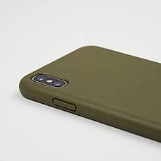 Биоразлагаемый чехол ECO Wheat Straw для iPhone XR Green, фото 3