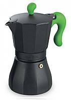 Гейзерная кофеварка на 6 чашки Con Brio СВ-6606-green