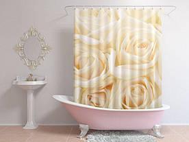 Штори для ванної троянди