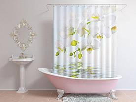 Штори для ванної біла орхідея