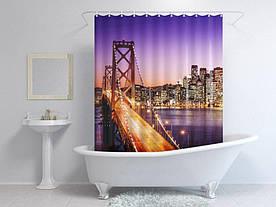 Штори для ванної міський міст