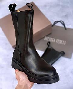 Женские ботинки 𝐁𝐨𝐭𝐭𝐞𝐠𝐚 𝐕𝐞𝐧𝐞𝐭𝐚 𝐁𝐥𝐚𝐜𝐤