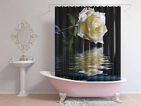 Штори для ванної роза над водою