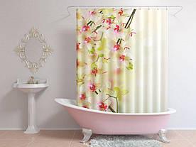Штори для ванної квіти на гілці
