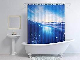 Штори для ванної море 3д
