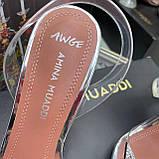 Босоніжки попелюшки від Amina Muaddi репліка люкс, фото 5