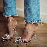 Босоніжки попелюшки від Amina Muaddi репліка люкс, фото 7