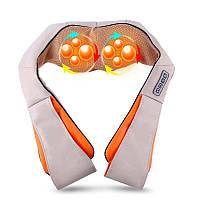 Массажер шиацу на плечи для шеи и спины 4 кнопки воротник универсальный Neck, фото 1