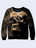 Світшот жіночий 3D Skull smoke/Свитшот ЧЕРЕП В ДЫМУ