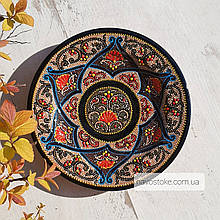 Узбекская тарелка точечная техника d 17 см. Риштан (1)