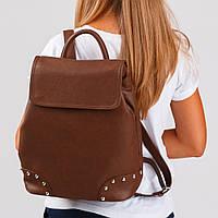 Уникальный городской рюкзак в коричневом исполнении