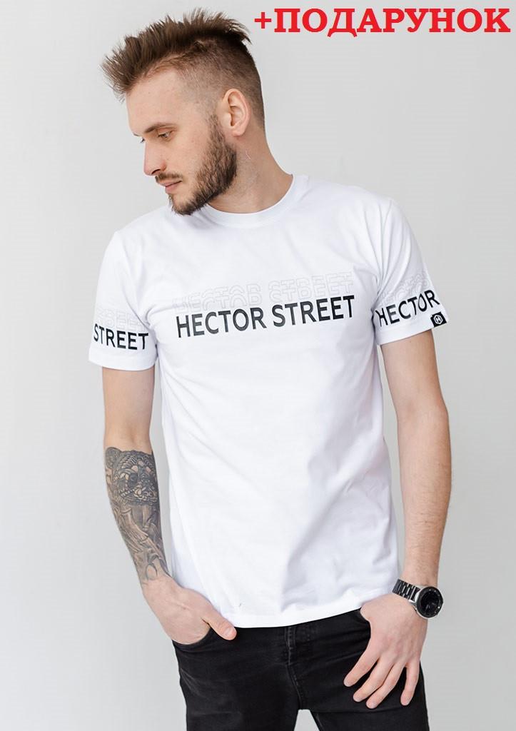 Біла чоловіча футболка з логотипом XXL