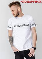 Белая мужская футболка с логотипом XXL