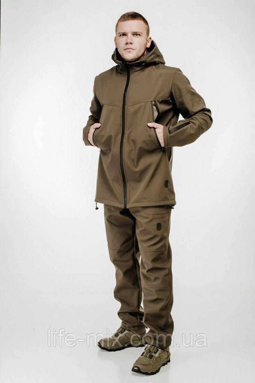 Чоловічий костюм демісезонний ULTIMATUM Soft Shell Олива
