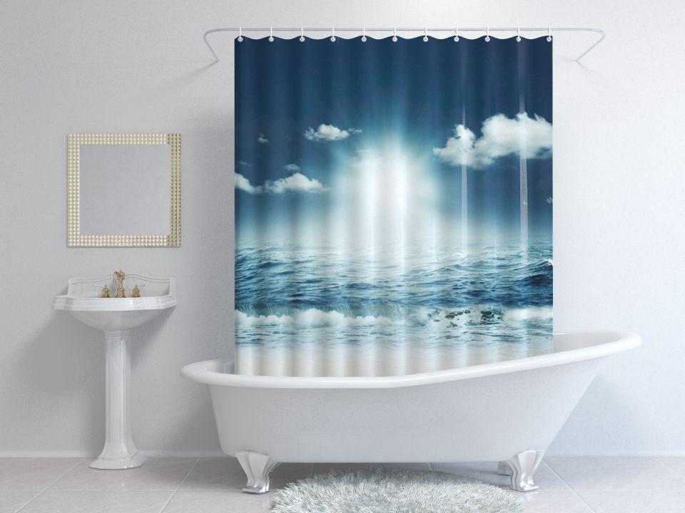 Шторы для ванной океан