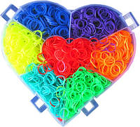 Набор резинок для плетения Сундучок Сердце 6000 шт + станок Монстер Тэйл Loom Bands