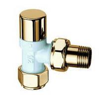 """Запорный вентиль LadyFar 1/2"""", угловой,золото/белая эмаль"""