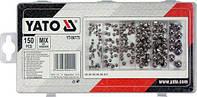 Гайки М3- М10 YATO : замкнуті півсферичні, пластикова коробка; наб. 150 шт. YT-06775