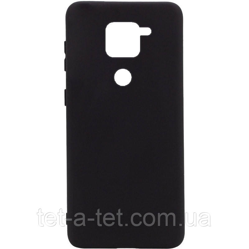 Чохол Silicone Cover Full для Xiaomi Redmi Note 9 Black (чорний)