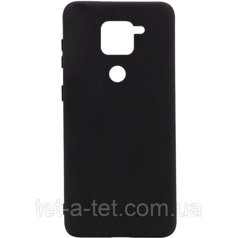 Силіконовий чохол Silicone Cover Full (A) для Xiaomi Redmi Note 9 Black (Чорний / Black)