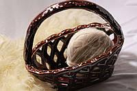 Конфетница из резной керамики Анита с ручкой