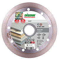 Круг алмазный Distar 1A1R Razor 125мм - отрезной диск для резки керамогранита и керамической плитки на УШМ