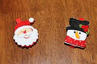 Деревянные прищепки для декора *дед мороз и снеговик*